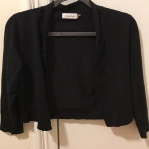calvin klein three quarter sleeve sweater